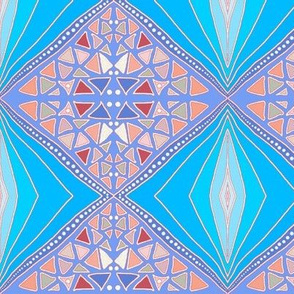 (NOW LARGER) Blue diamonds by Su_G