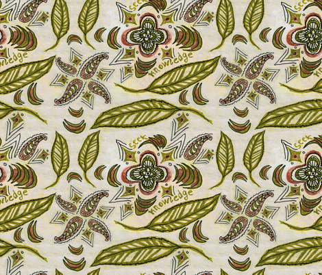 seeknowledge by Alexandra Cook aka Linandara fabric by linandara on Spoonflower - custom fabric