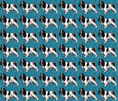 cocker_spaniel_woodcut fabric by dogdaze_ on Spoonflower - custom fabric