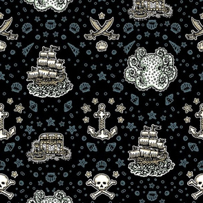 Black Pirate Print