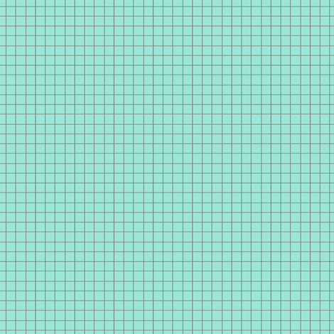 squares aqua fabric by katarina on Spoonflower - custom fabric