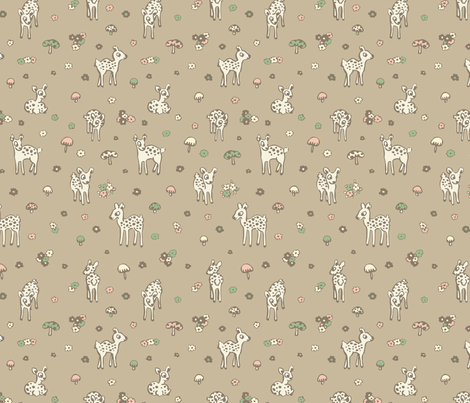 Forest Deer Faun fabric by teja_jamilla on Spoonflower - custom fabric