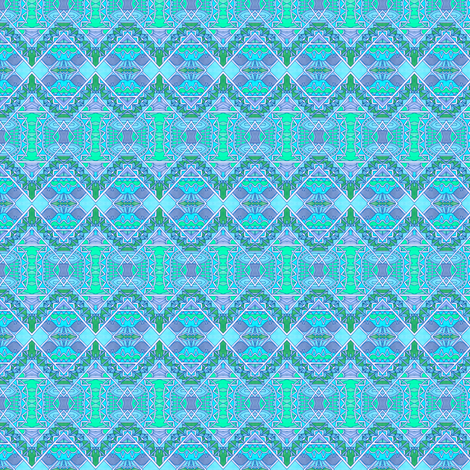 Aztec Waters fabric by edsel2084 on Spoonflower - custom fabric