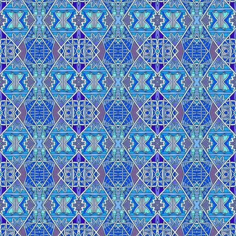 Bar Hopping Blues (and purples) fabric by edsel2084 on Spoonflower - custom fabric