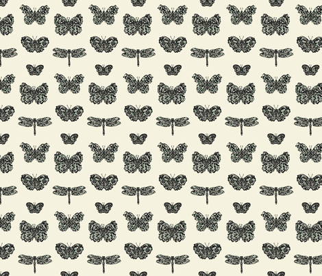 Art Nouveau Butterflies Paper  fabric by teja_jamilla on Spoonflower - custom fabric