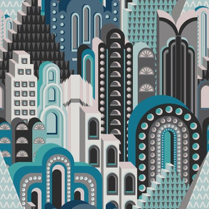 Deco Metropolis Small Blue