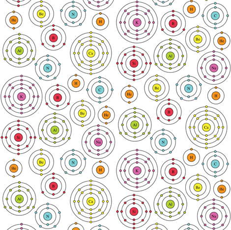 Periodic Shells (Ditsy) fabric by robyriker on Spoonflower - custom fabric