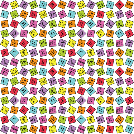 Topsy Turvey Periodic (Ditsy) fabric by robyriker on Spoonflower - custom fabric