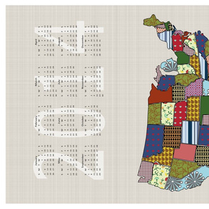 USA Tea Towel Calendar 2014