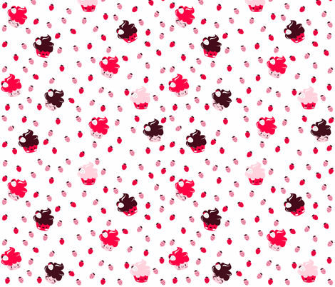 Cupcake-fabric fabric by ginamayes on Spoonflower - custom fabric