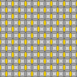 Grey & Yellow Circles