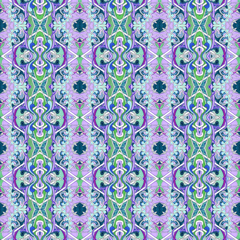 When Lavender Had a Playdate with Green fabric by edsel2084 on Spoonflower - custom fabric