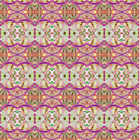 Pink Tangles fabric by edsel2084 on Spoonflower - custom fabric