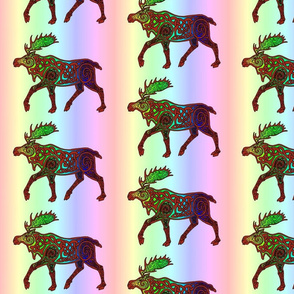 Rainbow Celtic Moose small