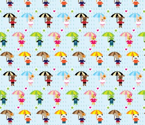 Rainny day fabric by bmac on Spoonflower - custom fabric
