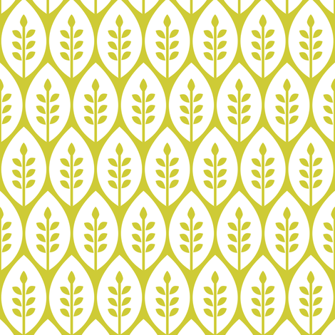 Flower Garden - White Leaf fabric by ttoz on Spoonflower - custom fabric