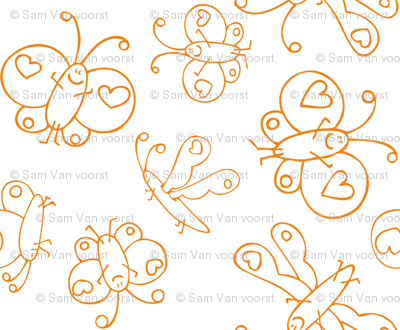 Happy Butterflies Orange