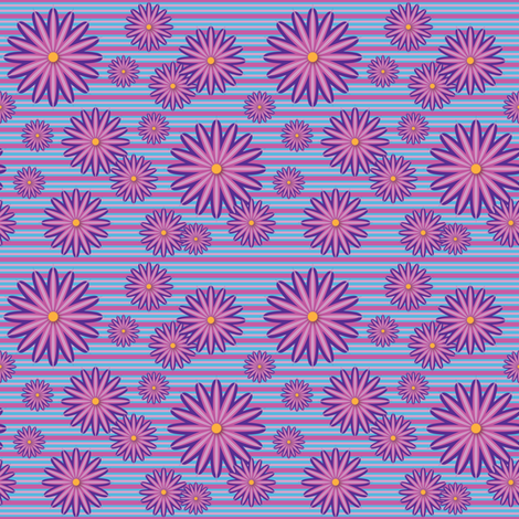 Pink Flowers fabric by jjtrends on Spoonflower - custom fabric