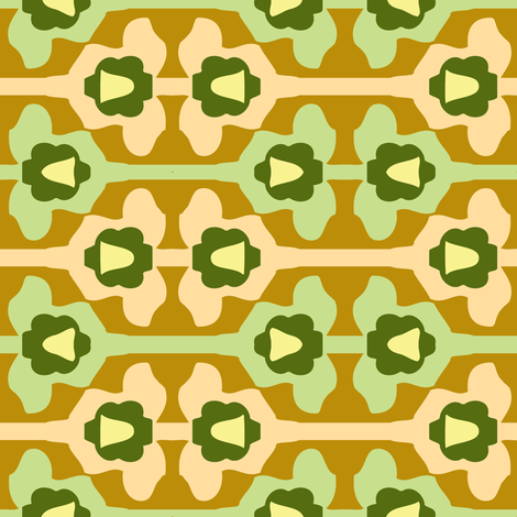 retrotapete_beige fabric by lilliblomma on Spoonflower - custom fabric