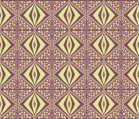 Earthy diamonds dark by Su_G fabric by su_g on Spoonflower - custom fabric