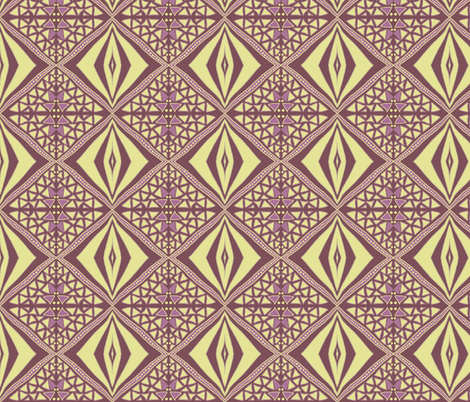 Earthy diamonds dark by Su_G fabric by su_g on Spoonflower - custom fabric