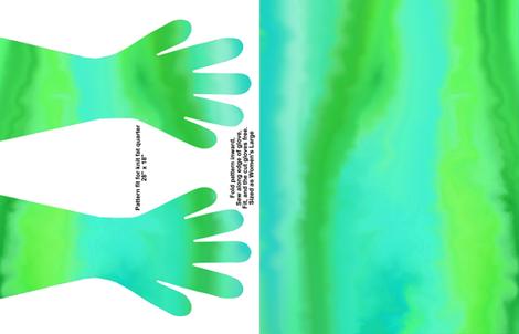 Green Turbulence Gloves fabric by ladyfayne on Spoonflower - custom fabric