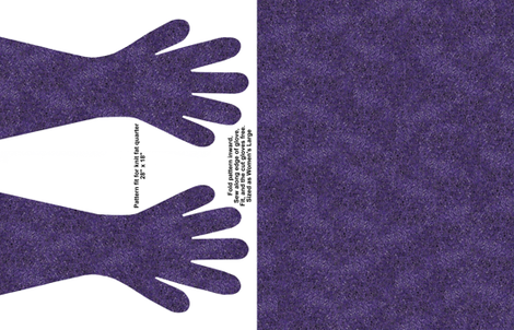Purple spec gloves fabric by ladyfayne on Spoonflower - custom fabric