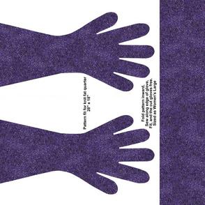 Purple spec gloves