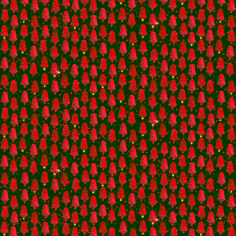 Glittering Bells of Christmas fabric by glimmericks on Spoonflower - custom fabric