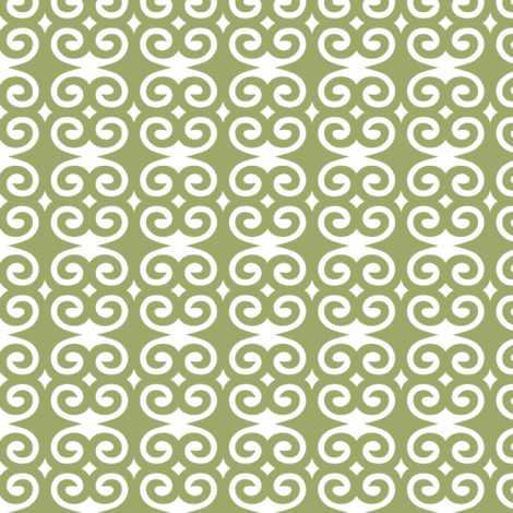Olive Swirl fabric by patternaholic on Spoonflower - custom fabric