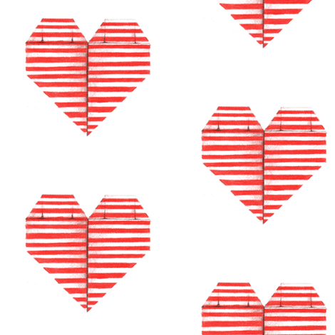 Origami Heart fabric by dorolimited on Spoonflower - custom fabric