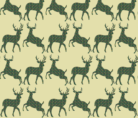 the autumn deer  fabric by icarpediem on Spoonflower - custom fabric