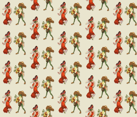 Courtship  fabric by icarpediem on Spoonflower - custom fabric