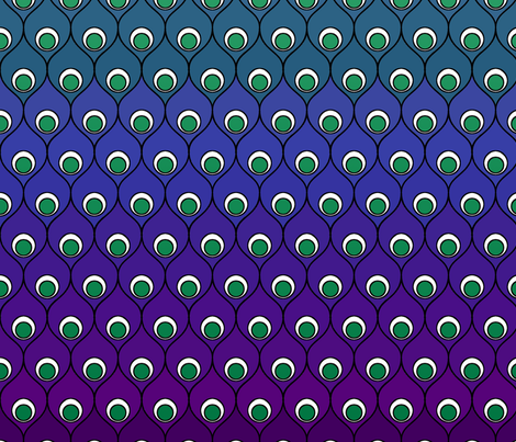 Peacock Gradation fabric by patchinista on Spoonflower - custom fabric
