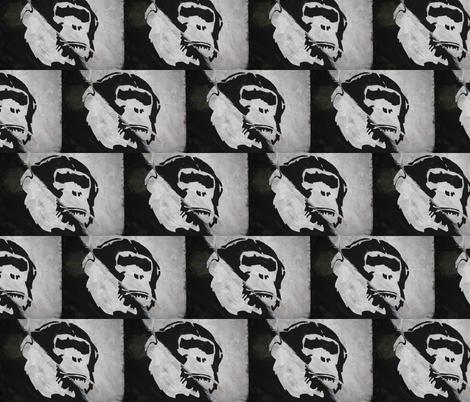 StencilMonkey fabric by relative_of_otis on Spoonflower - custom fabric