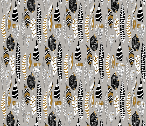 Unknown Feathers fabric by newmomdesigns on Spoonflower - custom fabric