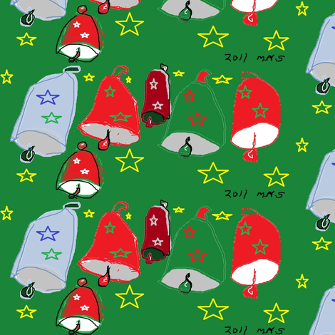 christmas_bells fabric by mailyn on Spoonflower - custom fabric