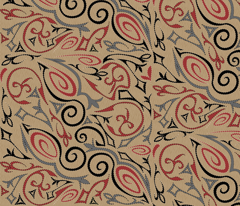 tattoo 1 big Branch Whirl fabric by glimmericks on Spoonflower - custom fabric