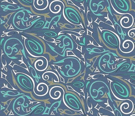 tattoo1big Swirling Waters fabric by glimmericks on Spoonflower - custom fabric