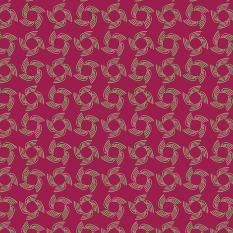 raspberry falcon fabric by glimmericks on Spoonflower - custom fabric