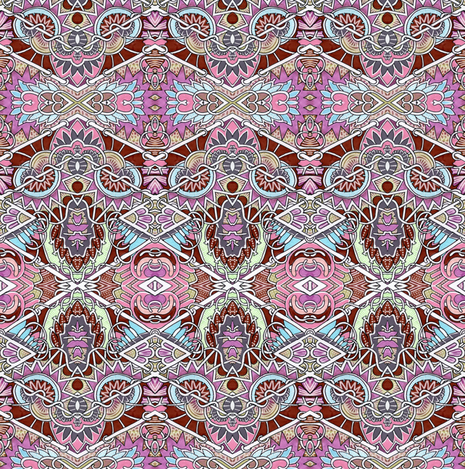 Victorian in a Morris Mode  fabric by edsel2084 on Spoonflower - custom fabric