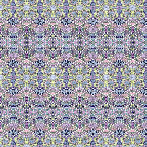 Doll Scale Horizontal zig zag stripes fabric by edsel2084 on Spoonflower - custom fabric