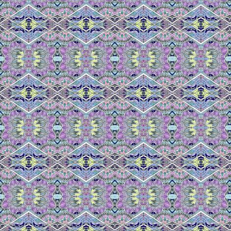 Alien Honeysuckle Diamonds horizontal stripe fabric by edsel2084 on Spoonflower - custom fabric