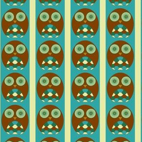 Owl Stripe - Blue/Brown