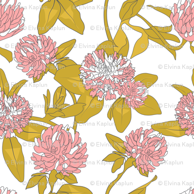 Clover Flowers - Pink & White