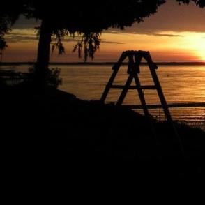 summer cabin at the lake
