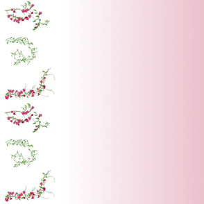 Floral vines with gradient