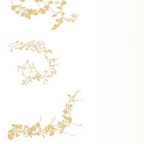 Floral vines with gradient--cream