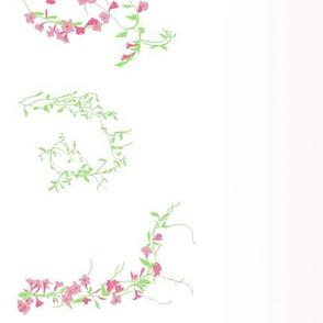 Floral vines with gradient--bubblegum