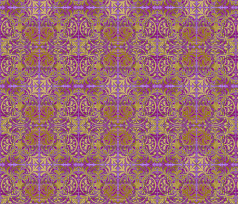 Interlock Lilac Medallions fabric by joonmoon on Spoonflower - custom fabric